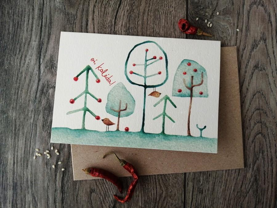 Kalėdinis atvirukas OI, KALĖDA + vokas